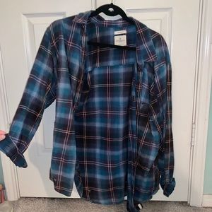 American Eagle Destroyed Flannel